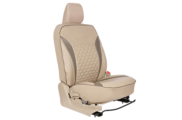 Seat Cover - Bisque with Quilt (PU) | Ertiga