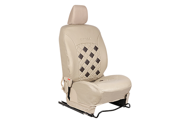 Seat Cover - Brown and Beige (PU) | Ertiga