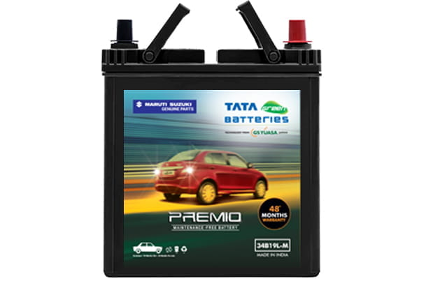 Car Battery | Tata Green 34B19 - Petrol | Alto 800 \ Alto K10 \ S-Presso